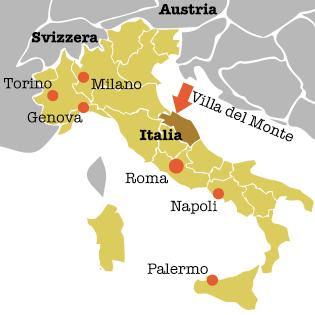 Position der Region Marken